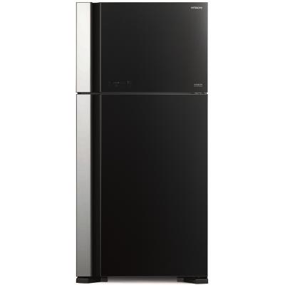 Холодильник Hitachi R-VG662 PU7 GBK черное стекло