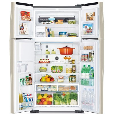 Холодильник Hitachi R-W722 PU1 GBW темно-коричневое стекло