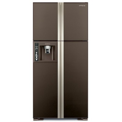 Холодильник Hitachi R-W722 FPU1X GBW коричневое стекло